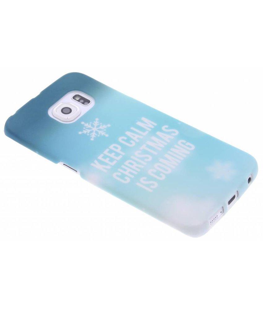 Keep Calm Christmas design hardcase Galaxy S6 Edge