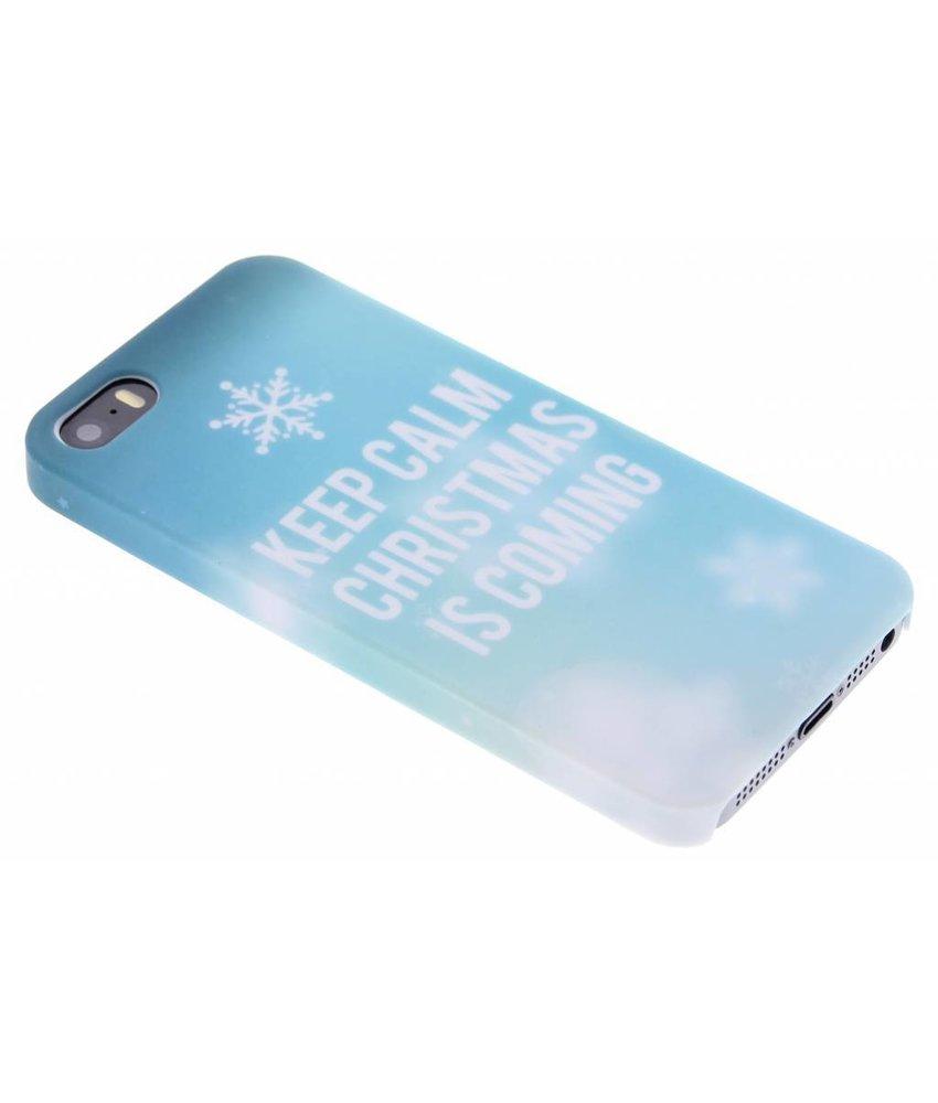 Keep Calm Christmas design hardcase iPhone 5 / 5s / SE