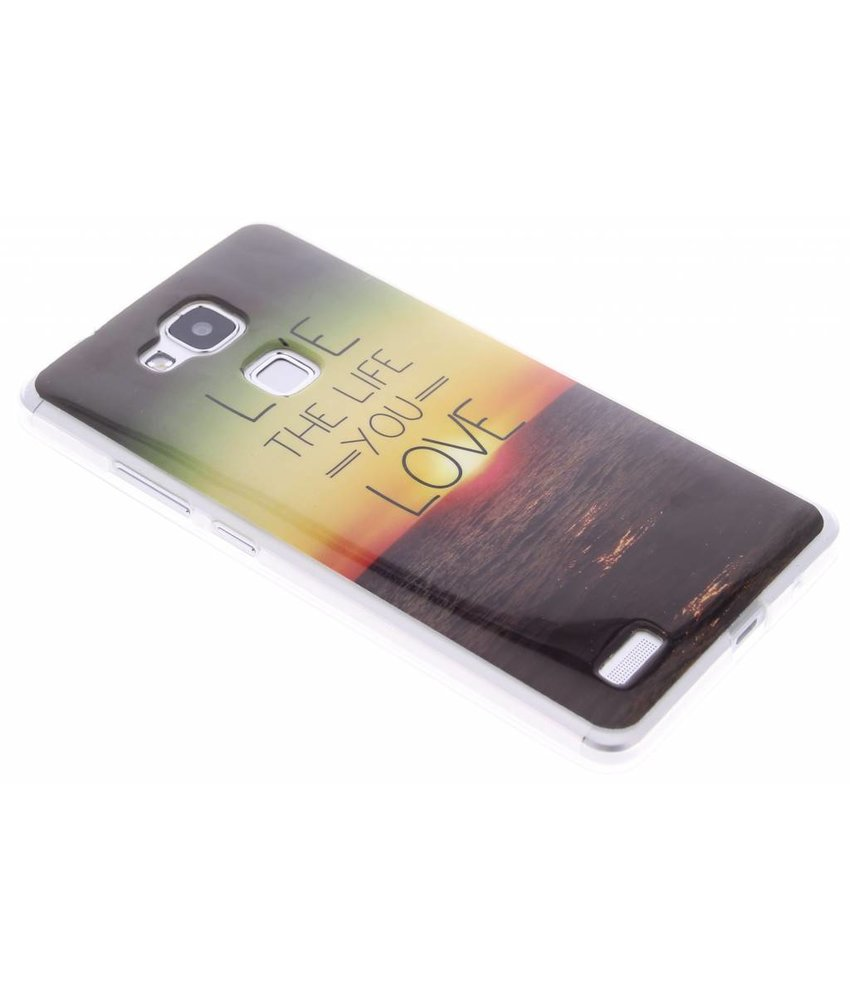 Design TPU siliconen hoesje Huawei Ascend Mate 7