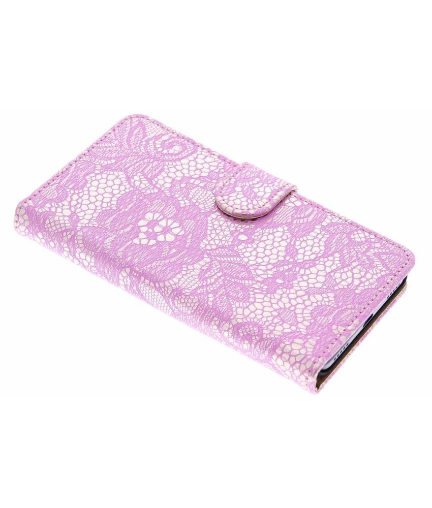 Roze glamour booktype hoes Huawei Y6
