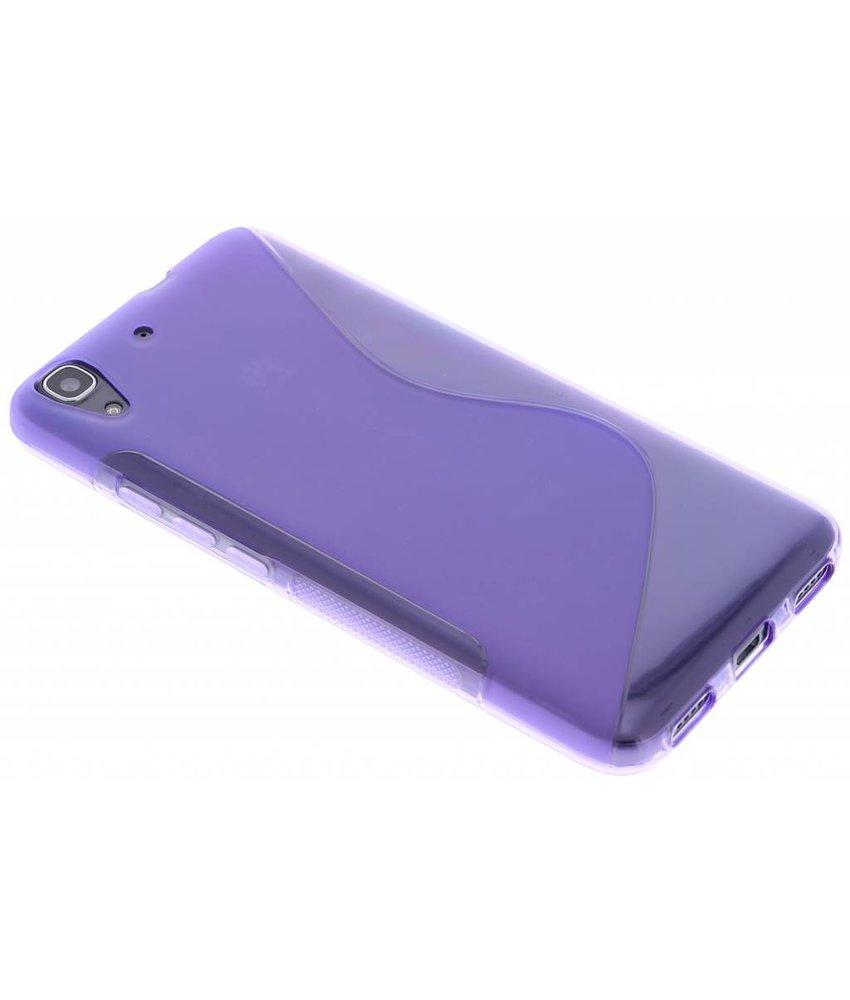 Paars S-line TPU hoesje Huawei Y6