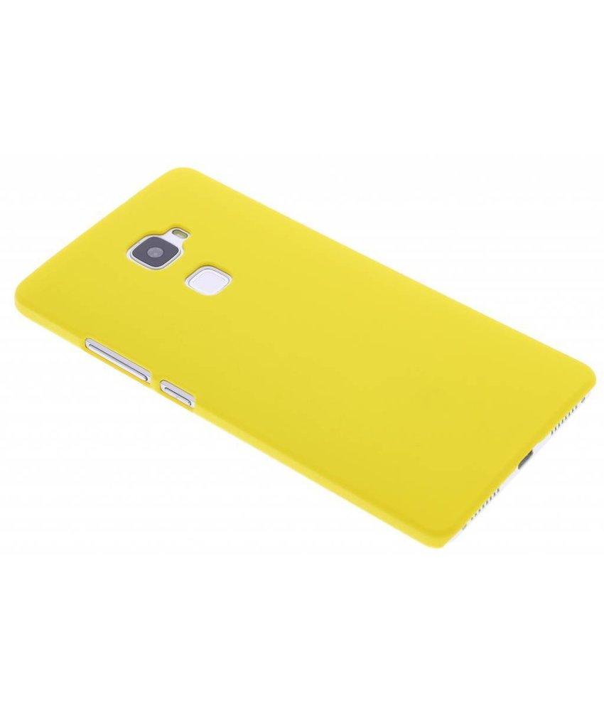 Geel effen hardcase hoesje Huawei Mate S