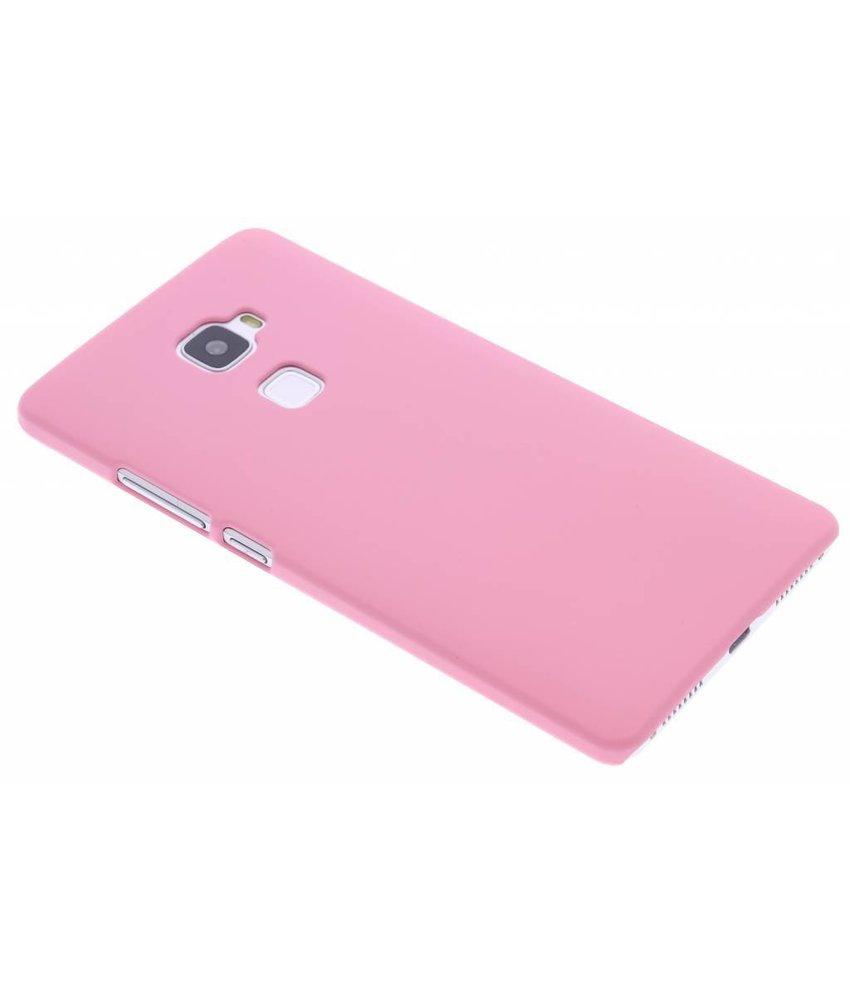 Roze effen hardcase hoesje Huawei Mate S