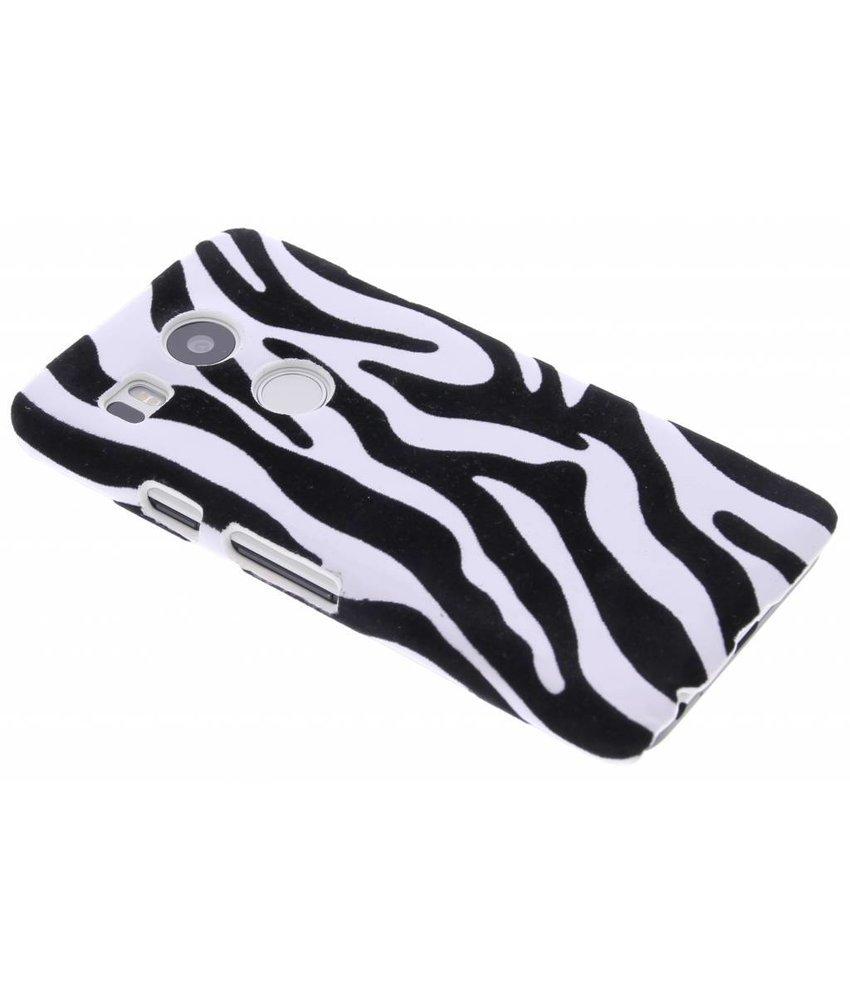 Zebra flock hardcase hoesje LG Nexus 5X