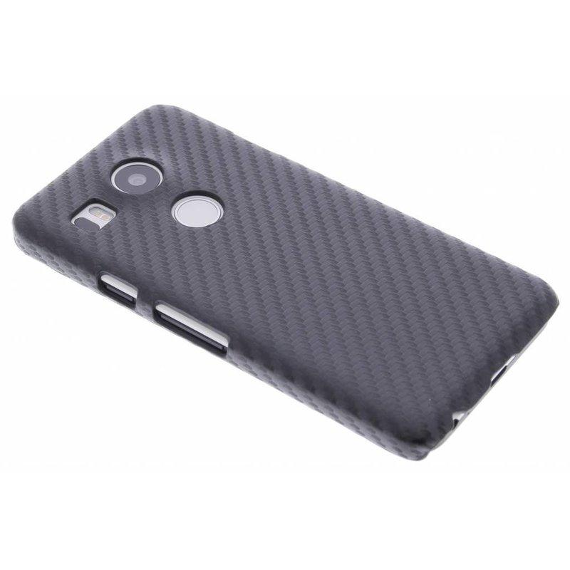 Zwart carbon look hardcase LG Nexus 5X