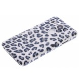 LG Nexus 5X hoesje - Grijs luipaard design hardcase