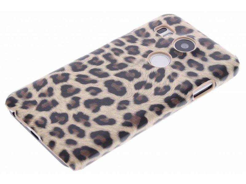 LG Nexus 5X hoesje - Bruin luipaard design hardcase
