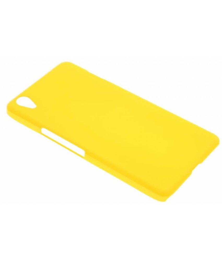 Geel effen hardcase hoesje OnePlus X