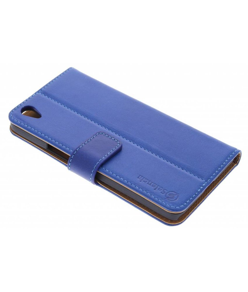 Selencia Luxe lederen booktype OnePlus X - Blauw