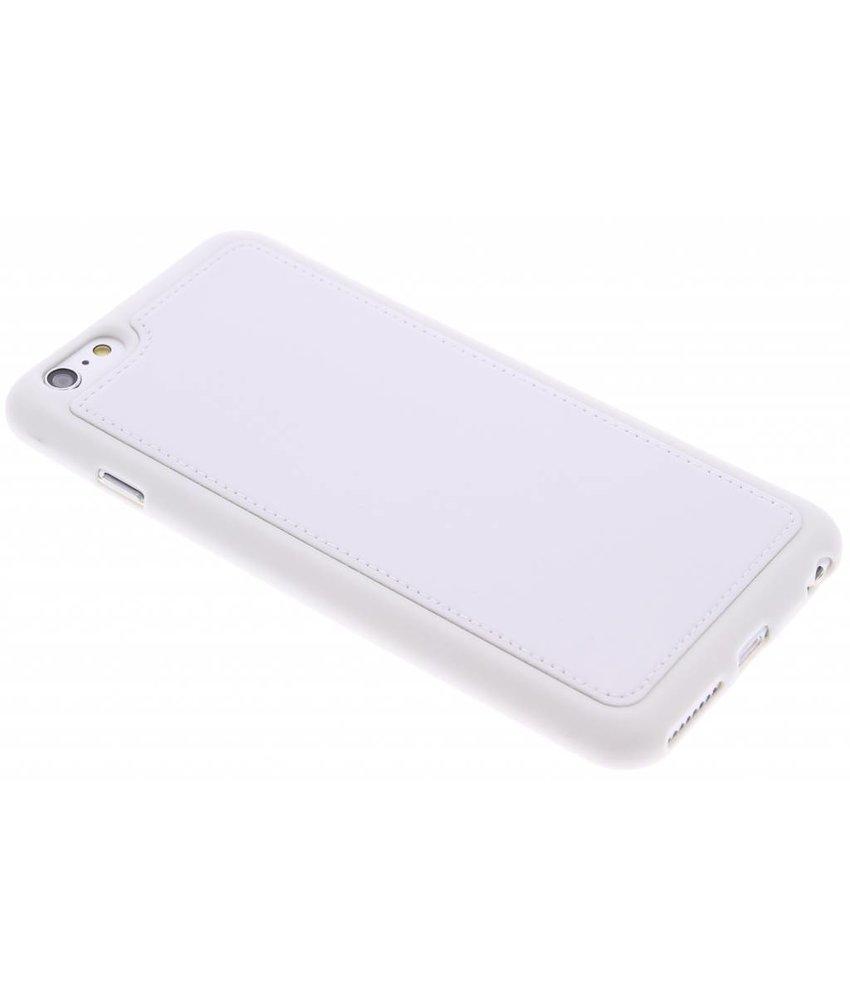 Wit lederen TPU case iPhone 6(s) Plus