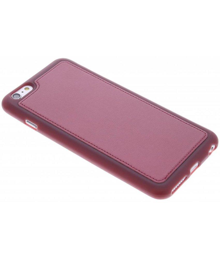 Rood metallic lederen TPU case iPhone 6(s) Plus