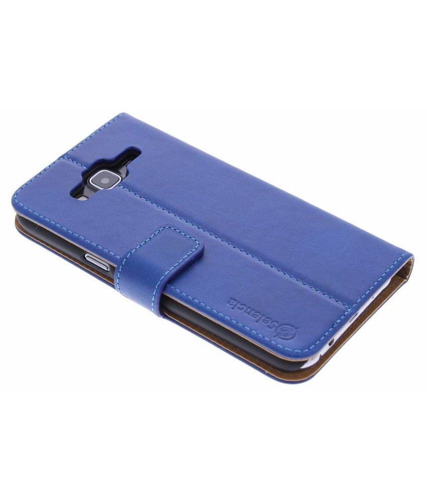 Selencia Luxe lederen Booktype Samsung Galaxy J5 - Blauw