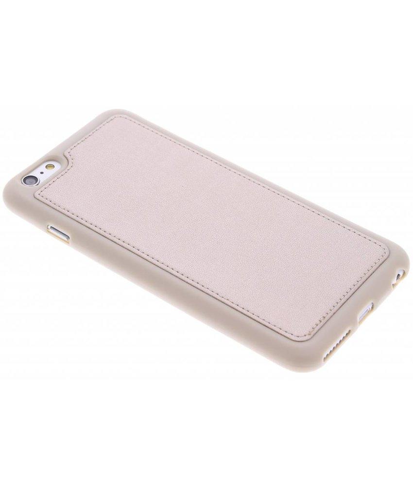 Goud metallic lederen TPU case iPhone 6(s) Plus