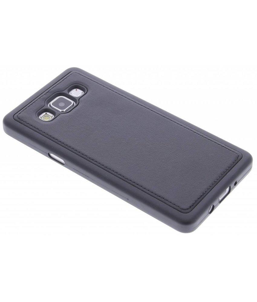 Zwart lederen TPU case Samsung Galaxy A5
