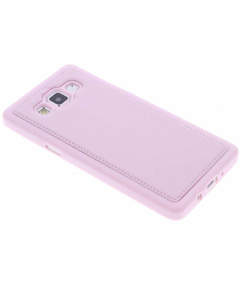 Roze lederen TPU case Samsung Galaxy A5