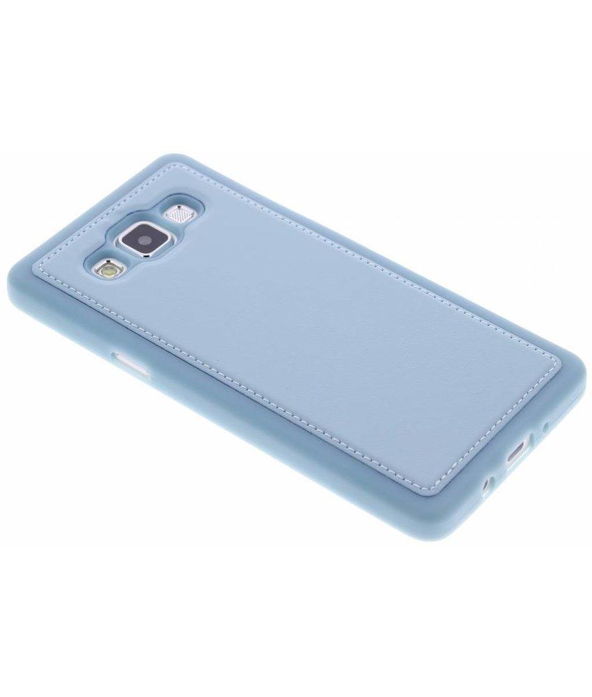 Blauw lederen TPU case Samsung Galaxy A5