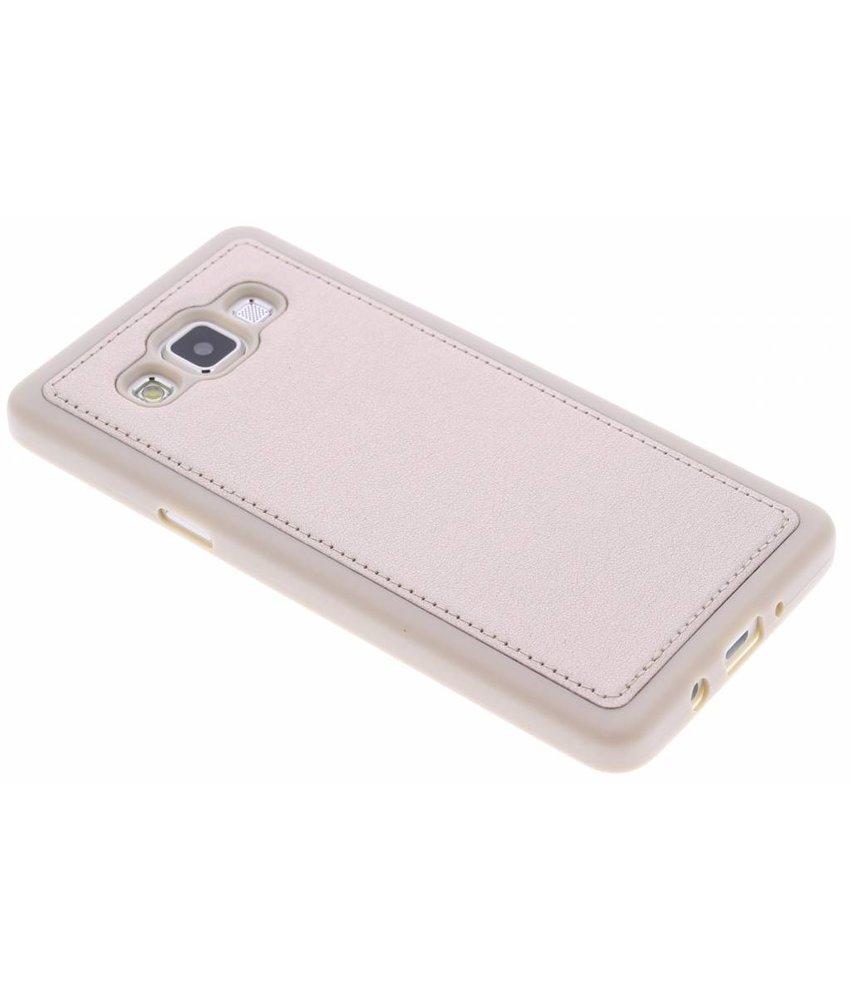 Goud metallic lederen TPU case Samsung Galaxy A5