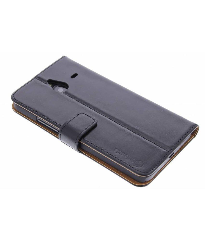 Selencia Luxe lederen booktype Microsoft Lumia 640XL - Zwart