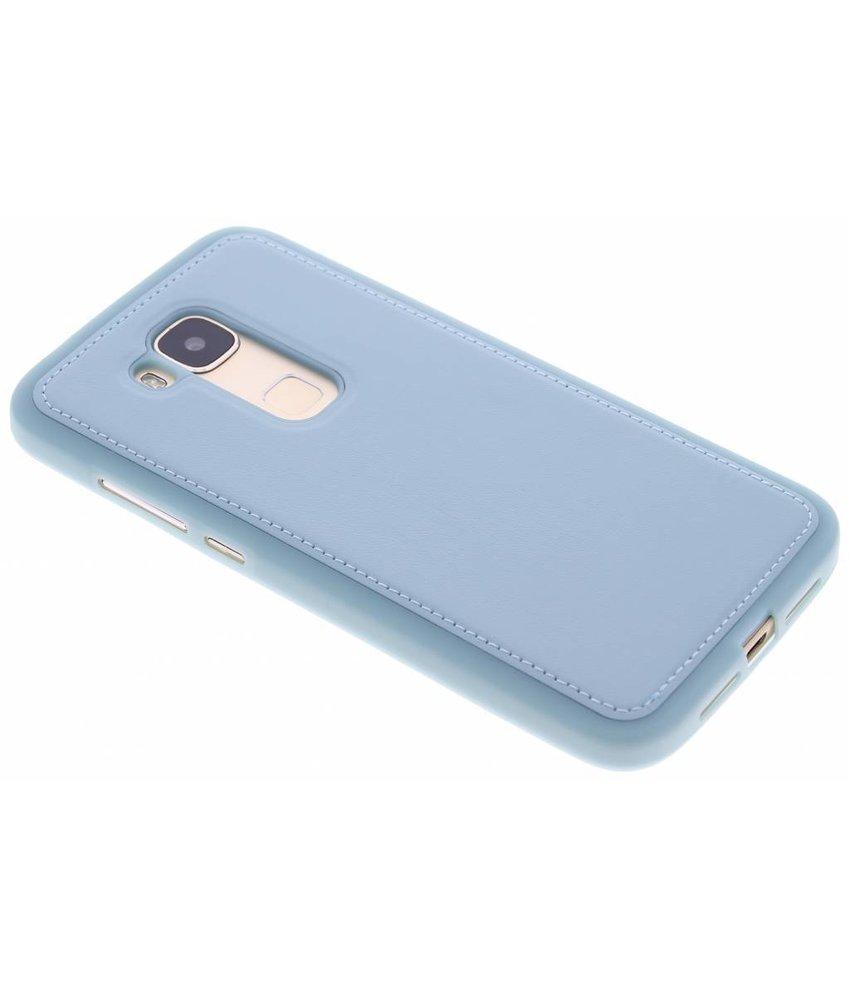 Blauw lederen TPU case Huawei G8