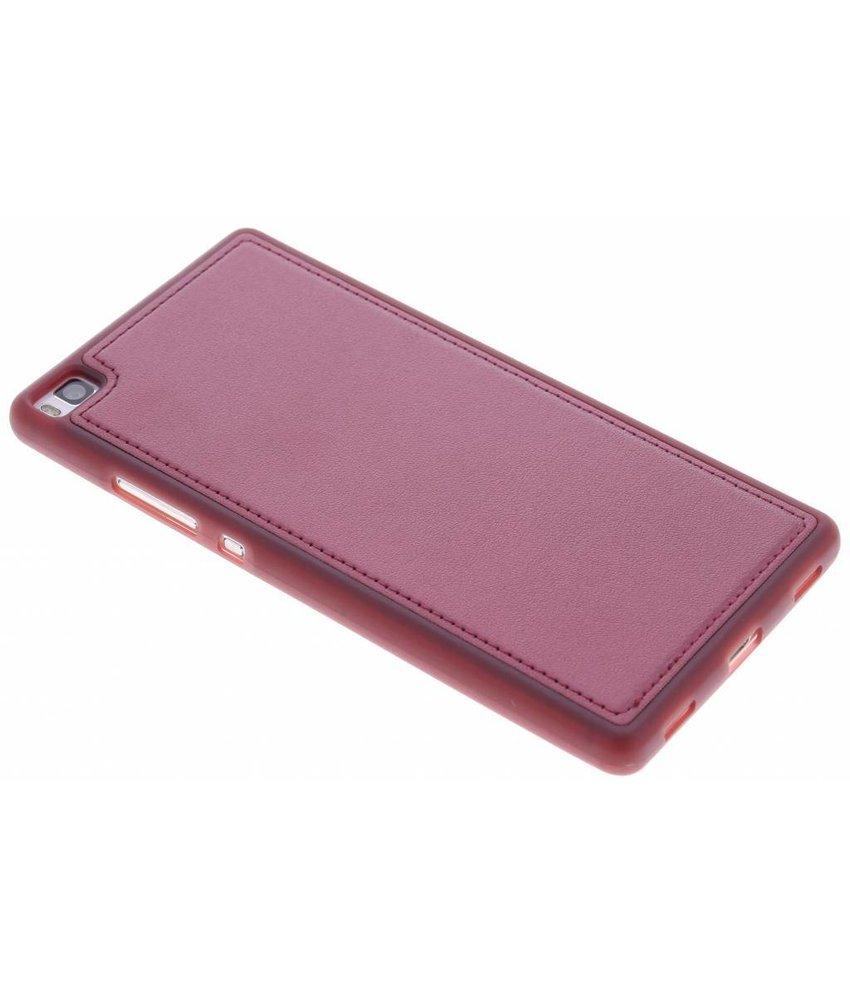 Rood lederen TPU case Huawei P8