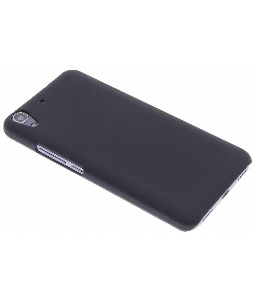 Zwart effen hardcase hoesje Huawei Y6