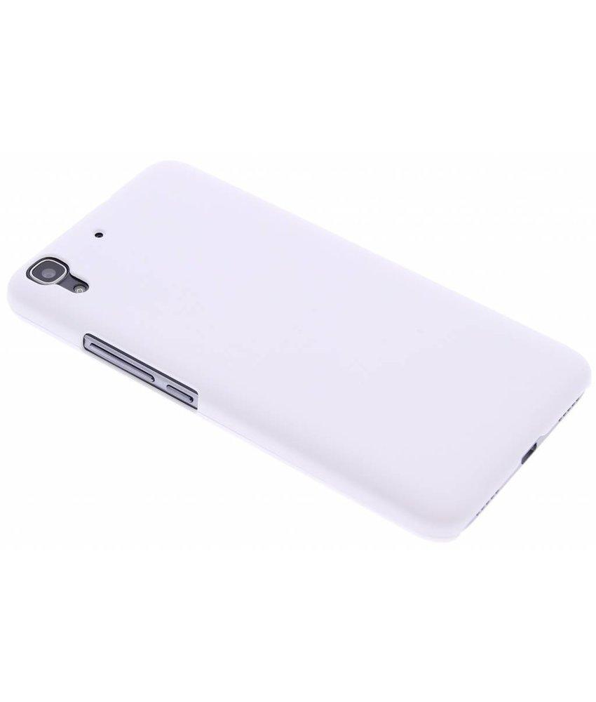 Wit effen hardcase hoesje Huawei Y6