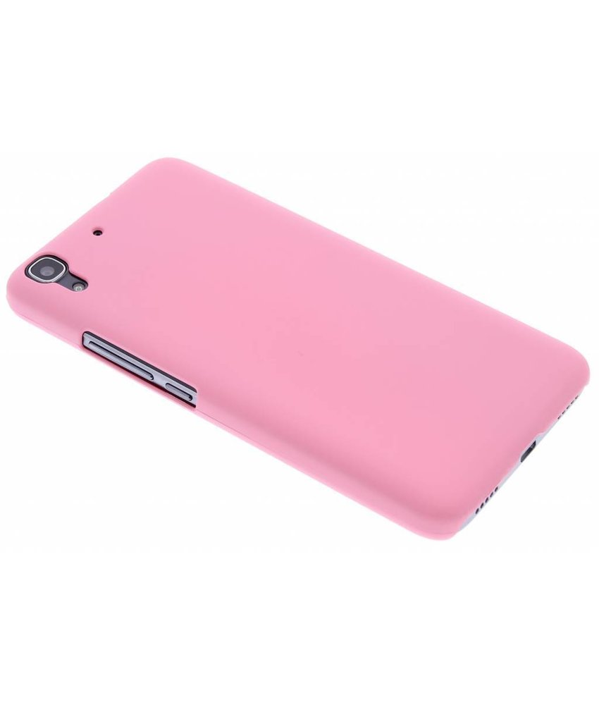 Roze effen hardcase hoesje Huawei Y6