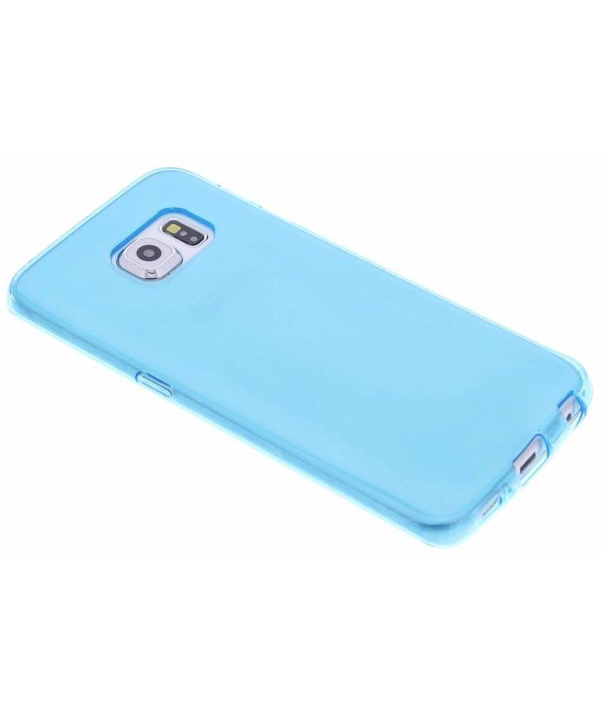 Turquoise transparant gel case Samsung Galaxy S6 Edge
