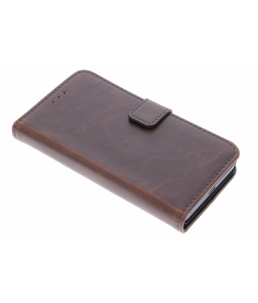 Bruin luxe leder booktype Microsoft Lumia 550