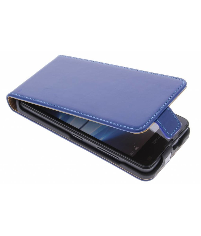 Selencia Luxe Flipcase Microsoft Lumia 550 - Blauw