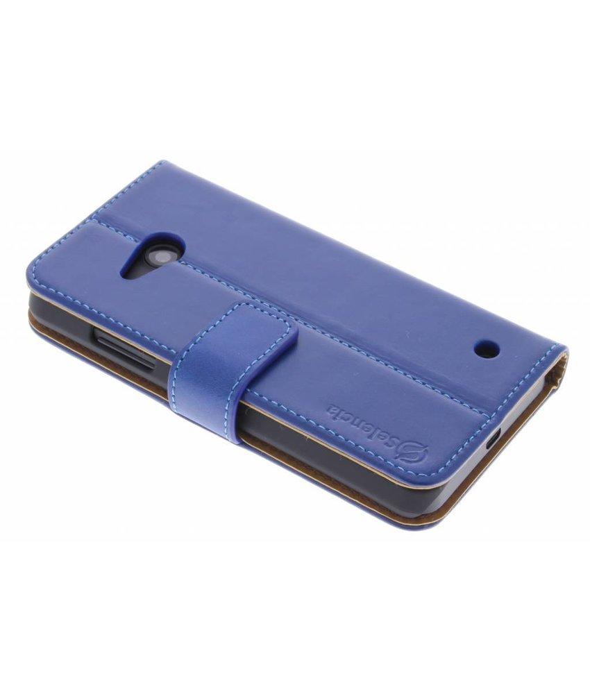 Selencia Luxe lederen Booktype Microsoft Lumia 550 - Blauw