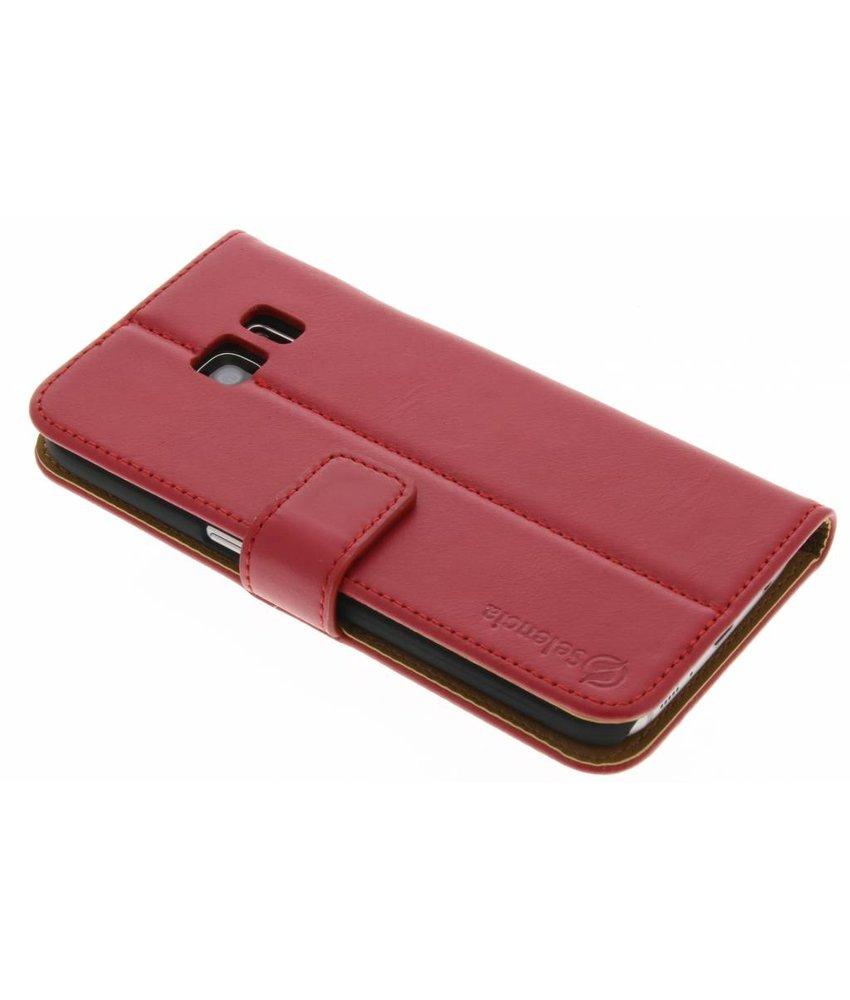 Selencia Luxe lederen Booktype Samsung Galaxy S7 - Rood