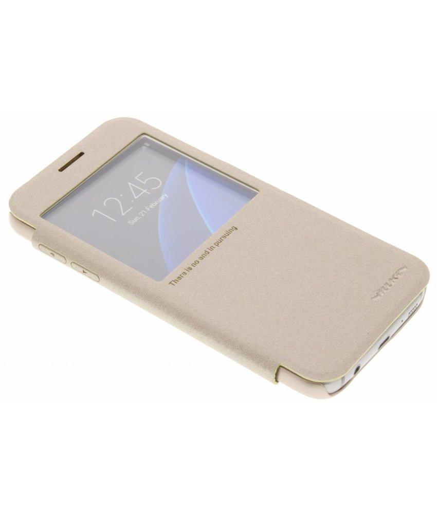 Nillkin Sparkle slim booktype hoes Samsung Galaxy S7 - Goud