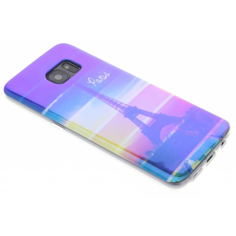 Metallic design TPU hoesje Samsung Galaxy S7 Edge