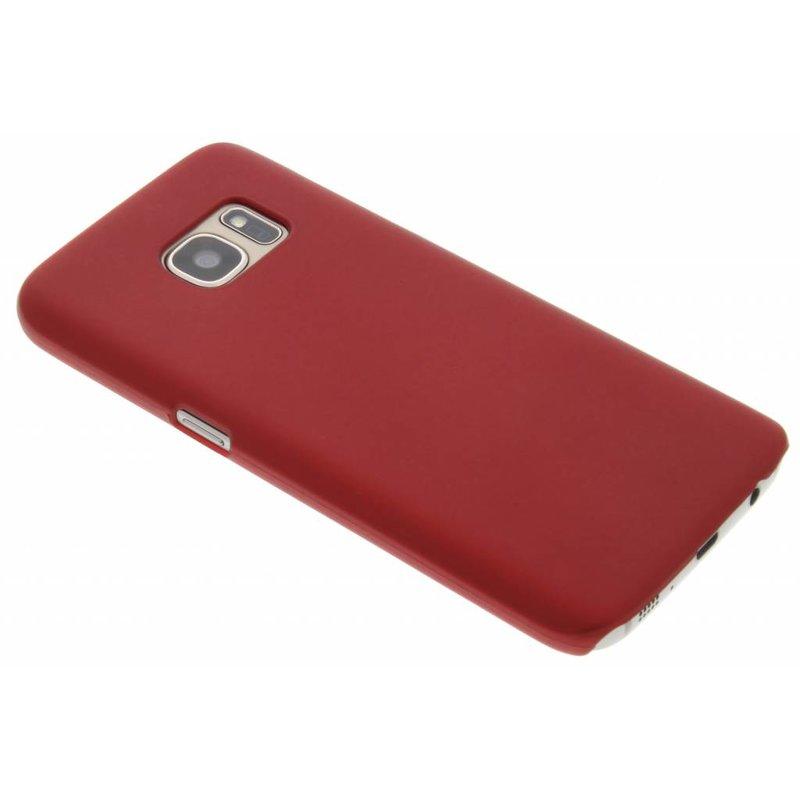 Rood effen hardcase hoesje Samsung Galaxy S7