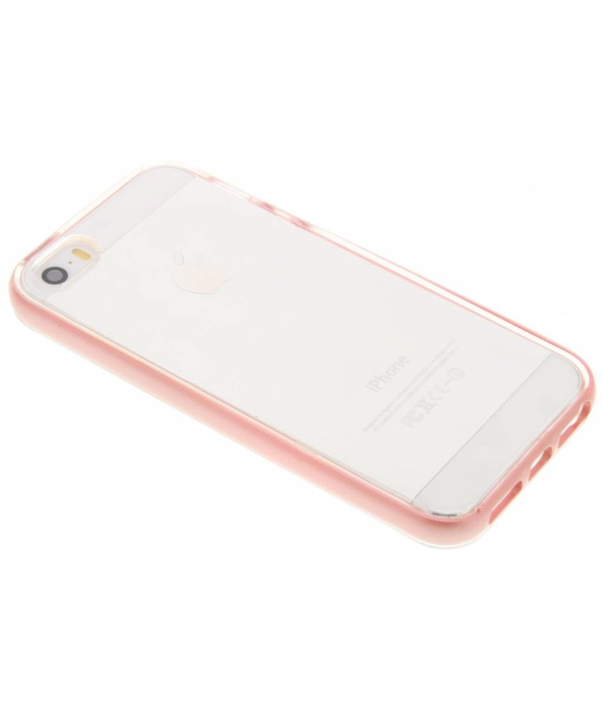 Roze bumper TPU case iPhone 5 / 5s / SE