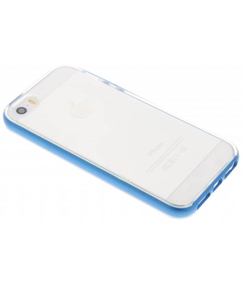 Blauw bumper TPU case iPhone 5 / 5s / SE