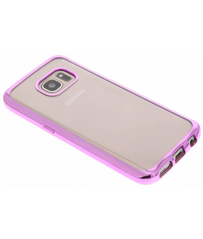 Roze TPU hoesje met metallic rand Samsung Galaxy S7