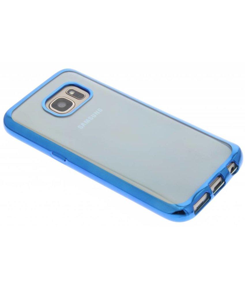 Blauw TPU hoesje met metallic rand Samsung Galaxy S7
