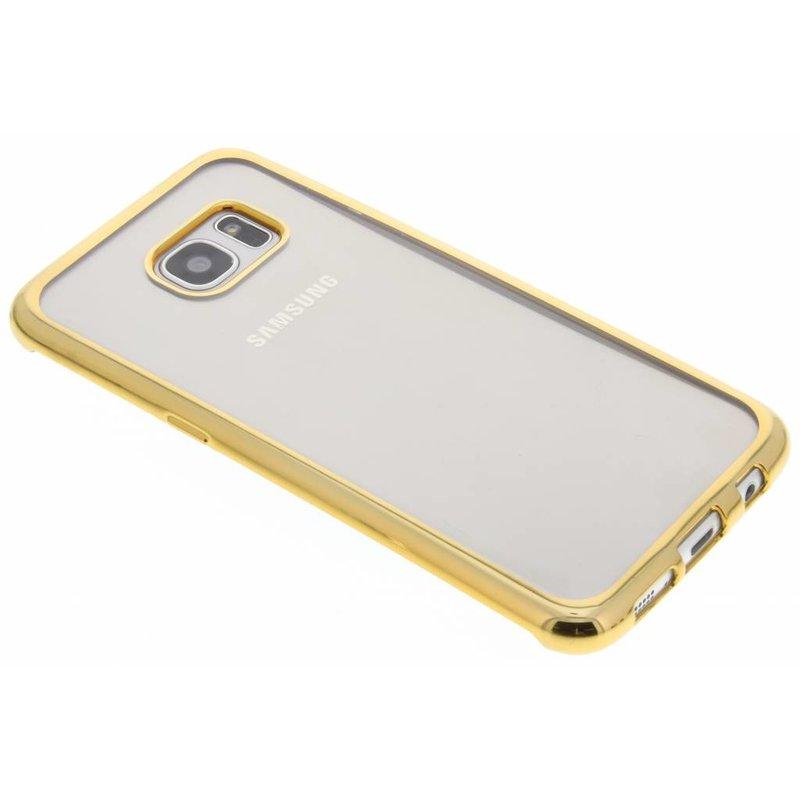 Housse En Tpu Bleu Avec Le Bord Métallique Pour Samsung Galaxy S7 NJYm66mC