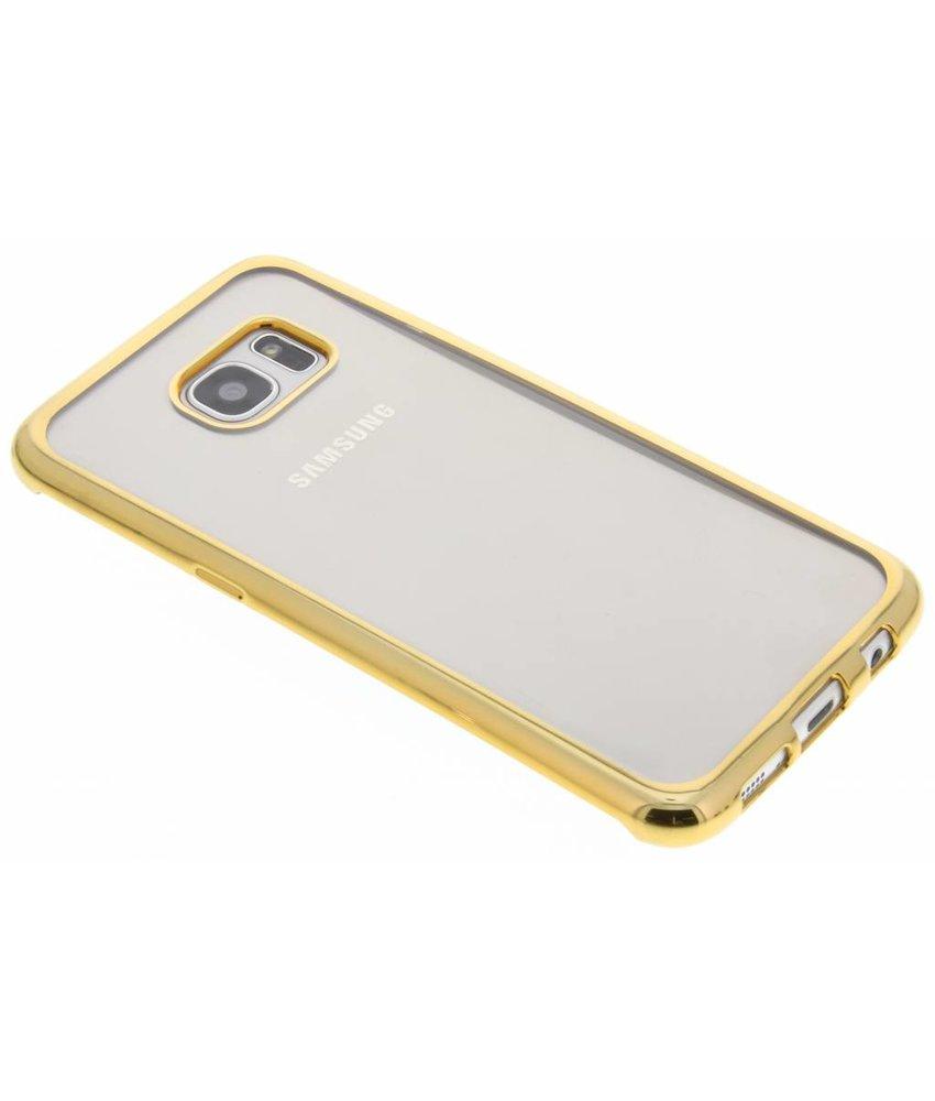 Goud TPU hoesje met metallic rand Samsung Galaxy S7 Edge
