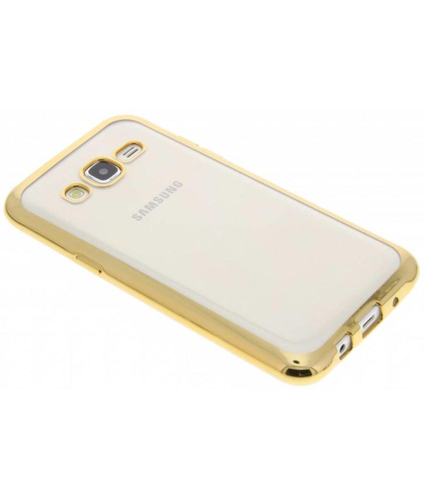Goud TPU hoesje met metallic rand SamsungGalaxyJ5