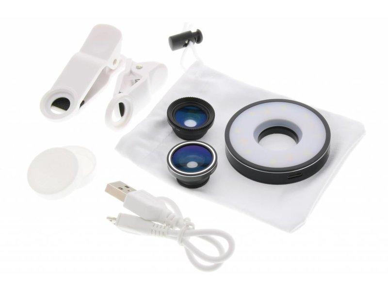 Zwarte 6 in 1 LED Multi-lens set
