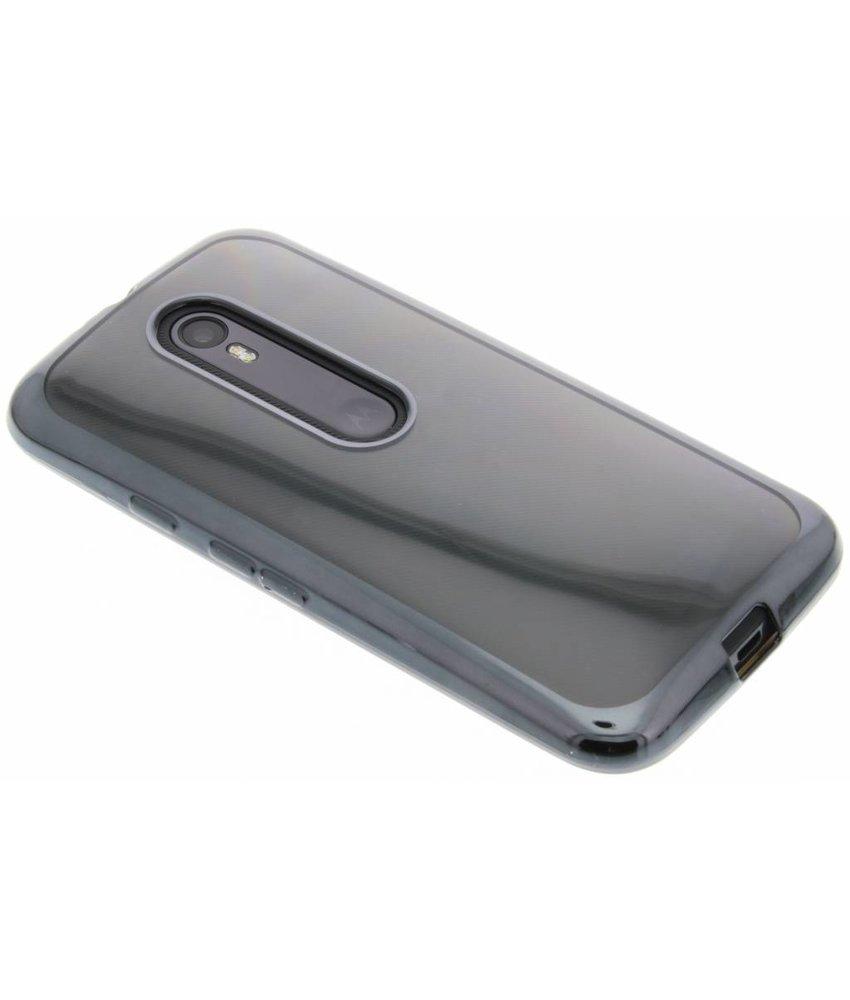 Donkergrijs TPU hoesje met metallic rand Motorola Moto G 3rd Gen 2015