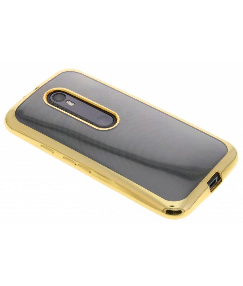 Goud TPU hoesje met metallic rand Motorola Moto G 3rd Gen 2015