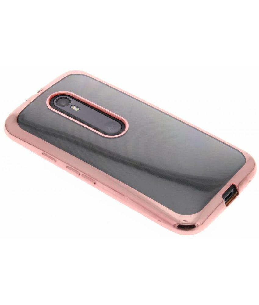 Rosé TPU hoesje met metallic rand Motorola Moto G 3rd Gen 2015
