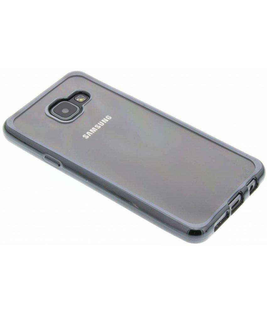 Donkergrijs TPU hoesje met metallic rand Samsung Galaxy A3 (2016)