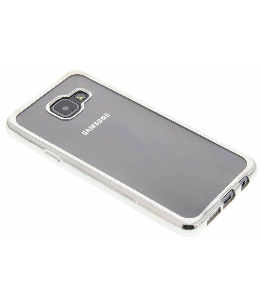 Zilver TPU hoesje met metallic rand Samsung Galaxy A3 (2016)