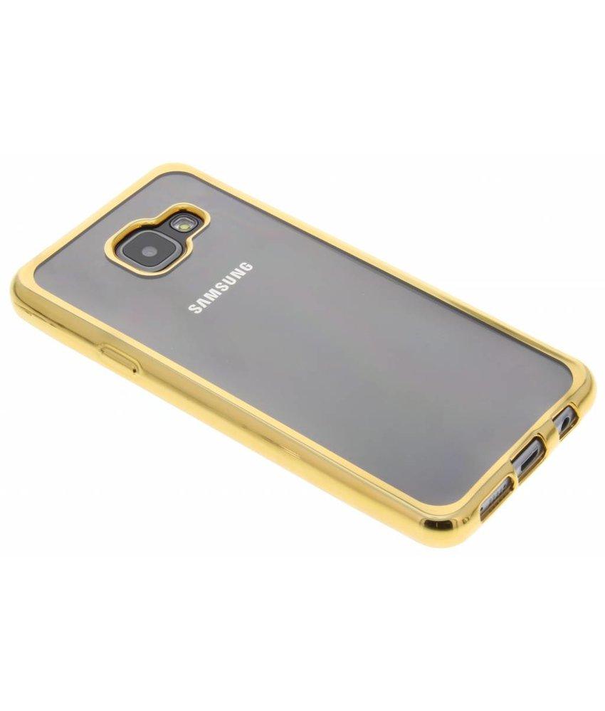 Goud TPU hoesje met metallic rand Samsung Galaxy A3 (2016)