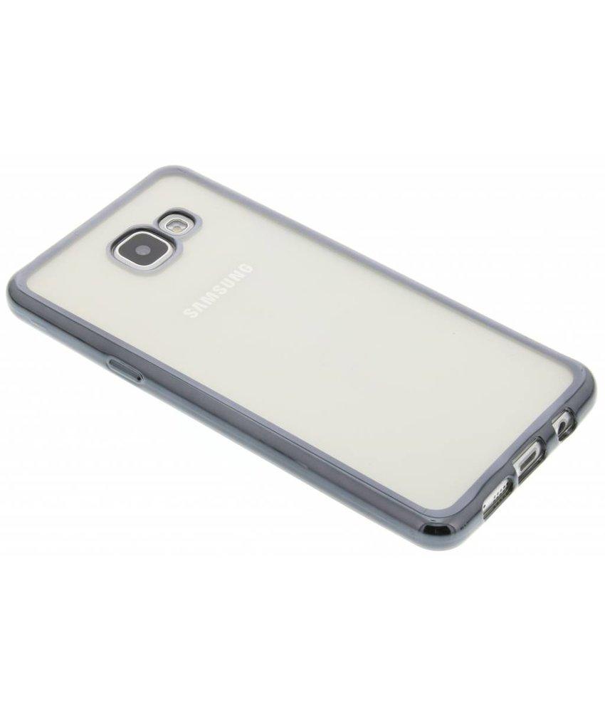 Donkergrijs TPU hoesje met metallic rand Samsung Galaxy A5 (2016)